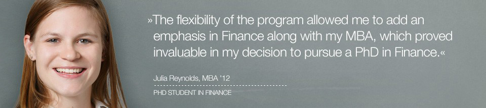 Business degree testimonial image